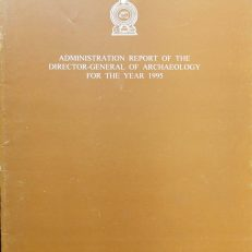 Administration report of the Director -General of Archaeology for the year 1995